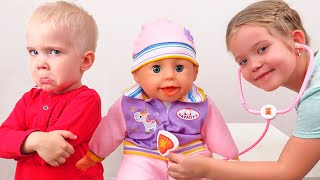 Лера и веселая история про новую куклу Настеньку