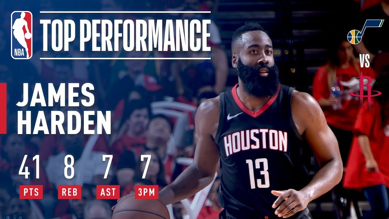 877f5c4175a3 James Harden Does It All in Game 1 Victory Vs. Jazz - YouTube
