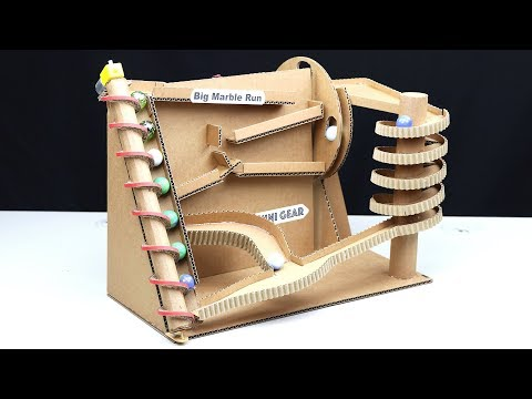 How to Make BIG Marble Run Machine from Cardboard