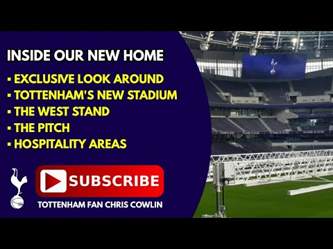 INSIDE TOTTENHAM'S NEW STADIUM: The West Stand, The Pitch, Hospitality Areas: 27 December 2018