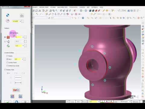 TFM - Mastercam X8 3D Wireframe Design - Solid Model Extrude Cuts