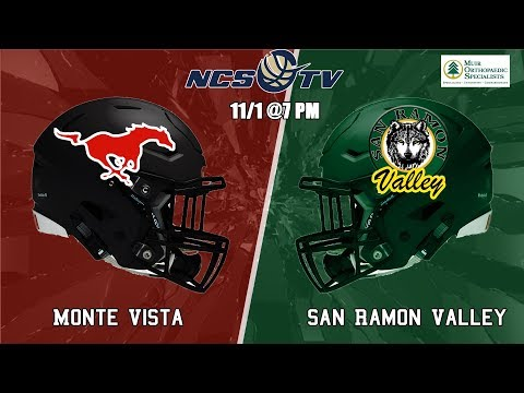 Monte Vista vs San Ramon Valley High School Football LIVE 11/1/19