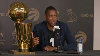 Masai Ujiri delivers the good in end of season press conference