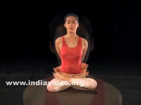 Yogamudrasana (The Posture with yoga symbol)