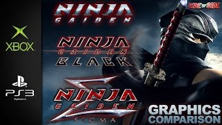 Ninja Gaiden, Black, Sigma | Graphics Comparison | ( Xbox , PS3 , Vita )