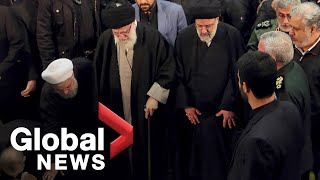 Iran's supreme leader leads prayers over Soleimani remains