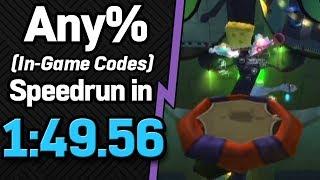 SS: Battle for Bikini Bottom Any% (In-Game Codes) Speedrun in 1:49.56 (WR on 11/16/2018)