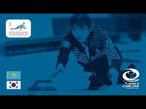 Kazakhstan v Korea - Women - Round Robin - Pacific-Asia Curling Championships 2018