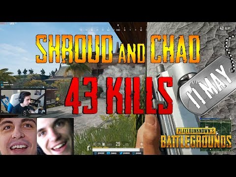 Shroud and Chad | 43 Kills | PUBG (New Map: Sanhok)