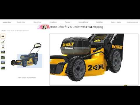 Dewalt 20v 40v Lithium Ion Lawn Mowers Are Available Now