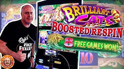 🙀$25 BETS! 8 Free Games JACKPOT 🙀 Konami's Brilliant Cats Boosted Respin Slot