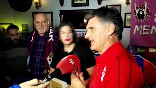 Homenaje a Mendilibar en su vuelta a Valladolid