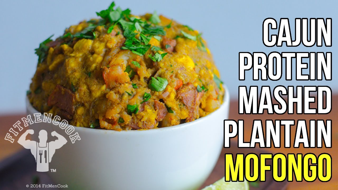 Fitmencook Cajun Mashed Plantains Healthy Mofongo Meal Prep Recipe Receta De Mofongo Cajun