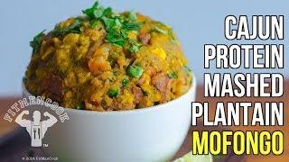 Fitmencook Cajun Mashed Plantains Healthy Mofongo Meal Prep Recipe / Receta De Mofongo Cajun