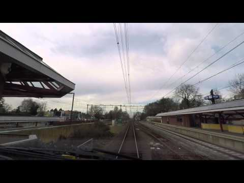 A train driver's view: Arnhem CS - Alkmaar, VIRM, 05-Mar-2016.