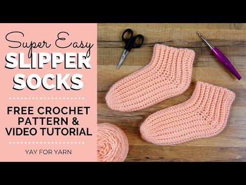 Free easy crochet slipper patterns for beginners