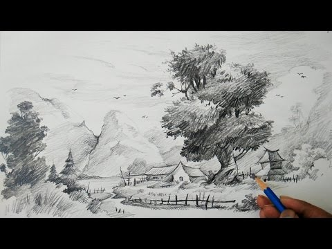 Learn Landscape With Easy Strokes With Pencil