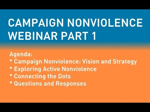 Campaign Noniolence Webinar May 12, 2015 - Part 1