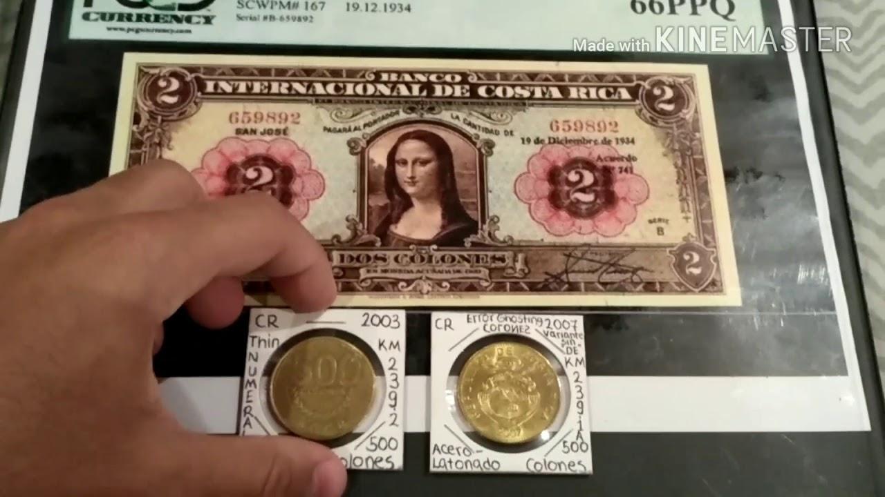 Monedas De Costa Rica 500 Colones Con Variantes Valiosas