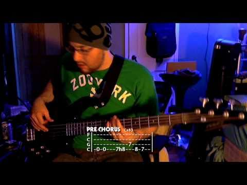 """Animal I Have Become"" - Three Days Grace -=- Bass w/ Tabs (HD Cover)"