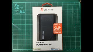Griffin Reserve 6000 mAh Power Bank Review