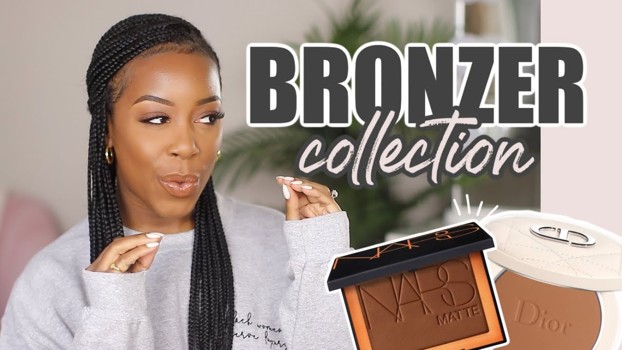 MY *UPDATED* BRONZER COLLECTION! | OLD, NEW, & DISCONTINUED BRONZERS + DECLUTTER | Andrea Renee