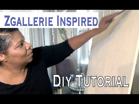 Zgallerie Inspired Glitter Art Tutorial | Glitter and Crush Glass Wall Art | Mooregirl