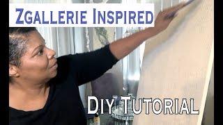 Zgallerie Inspired Glitter Art Tutorial | Glitter and Crush Glass Wall Art | Mooregirl