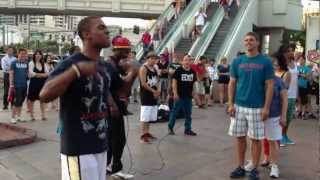 Street performers from the Las Vegas strip