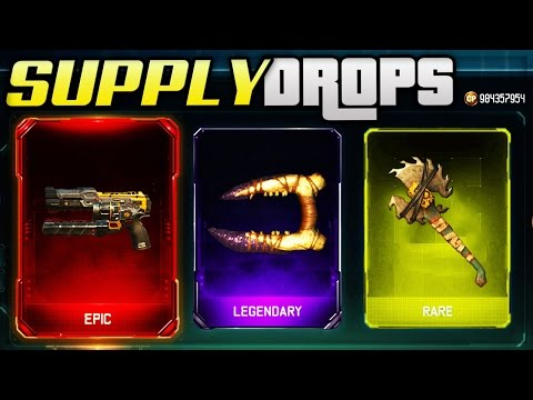 BLACK OPS 3 SUPPLY DROP OPENING! - NEW RARE WEAPONS BO3 GAMEPLAY