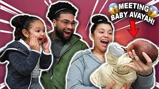 MEETING BABY AVAYAH FOR THE FIRST TIME!!! *BABY REVEAL*