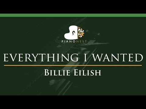 Billie Eilish - Everything I Wanted - LOWER Key (Piano Karaoke Instrumental)