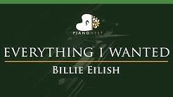 Billie Eilish - everything i wanted - LOWER Key (Piano Karaoke Instrumental)