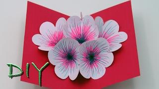 basteln mit Papier: Pop Up Karten selber basteln - DIY