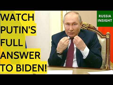 Putin To Biden: Despite All Attempts To Stop Russia's Development, They Will Have To Reckon Wit