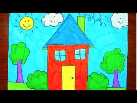 Thumbnail: How To Draw A House | Kids Coloring Video