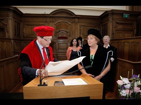 Honorary doctorate for Michelle Bachelet, President of Chile