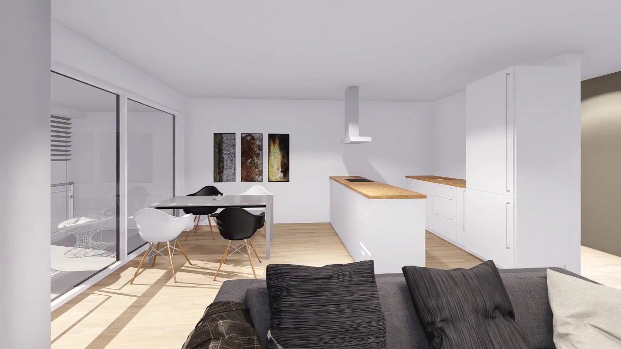 Virtueller Rundgang durch Wohnung im Projekt Ditzingen Cube D - YouTube
