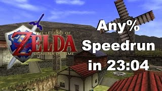 The Legend of Zelda: Ocarina of Time Any% Speedrun in 23:04