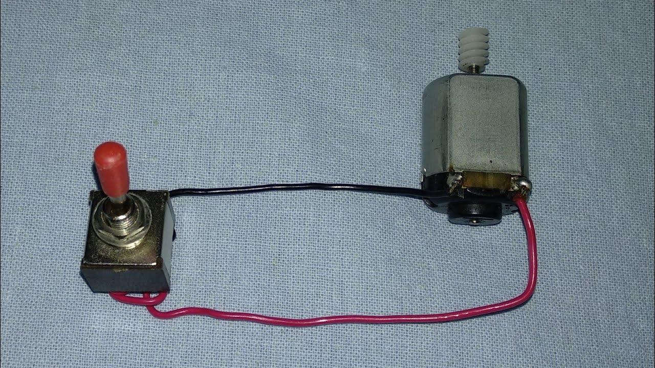 DC Motor Single Switch Reverse forward wiring|DC Motor Reverse forward  indicator Wiring