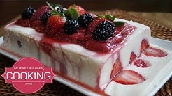 Yogurt Jello with Strawberry Jelly - Healthy valentine day desserts