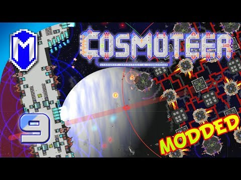 Cosmoteer - Super Cannon Is A Little Bit OP, Powerful Guns - Let's Play Cosmoteer Mods Gameplay Ep 9
