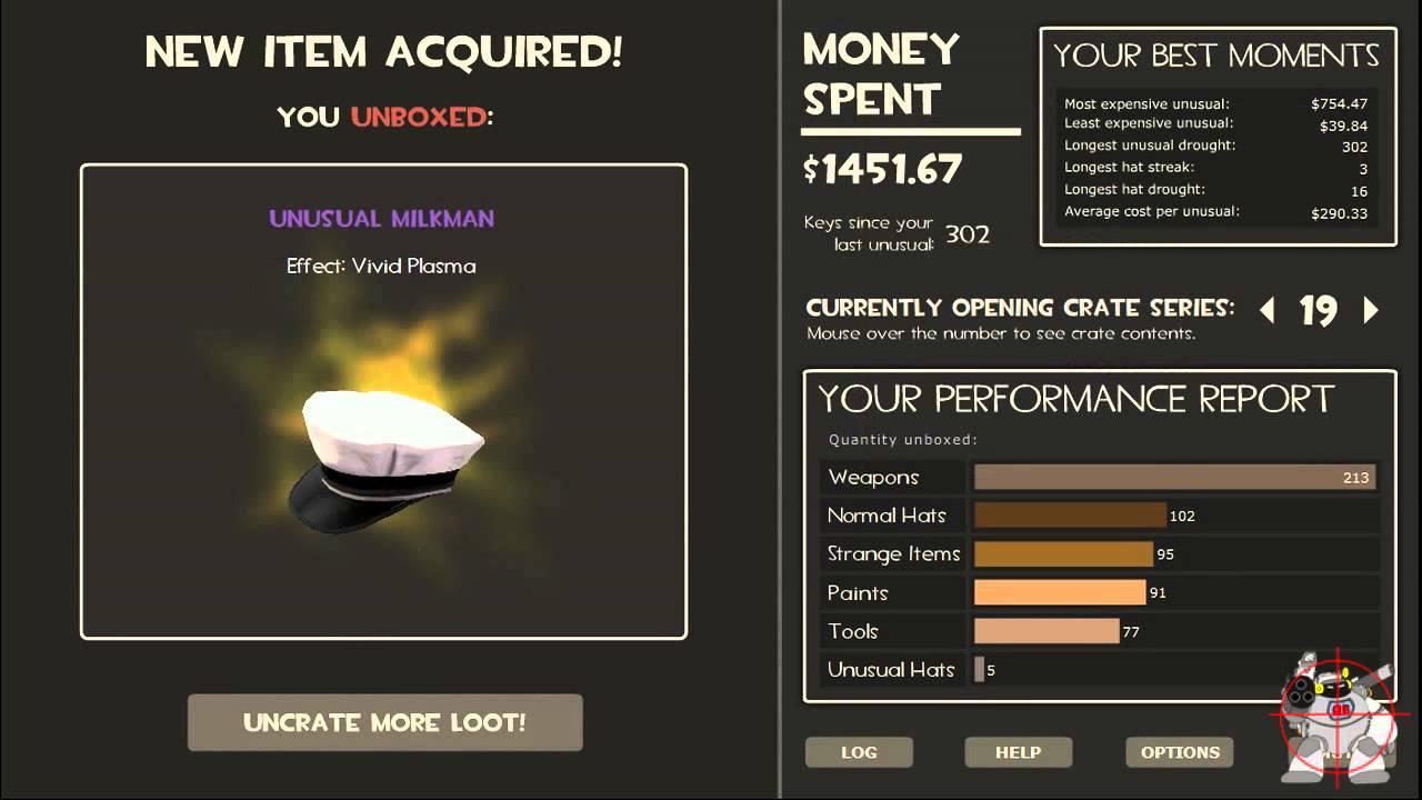 Tf2 11 Unusuals Found 2778 84 Dollars Amount Of Keys