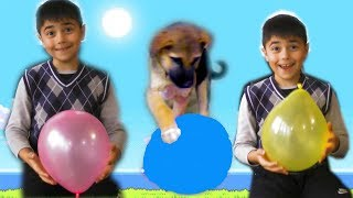 Pretend Play with Guka and Little Dog for Learn🎈Balloons🎈Colors