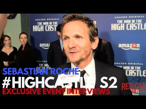Sebastian Roché Interviewed at The Man in the High Castle Season 2 Premiere #HighCastle