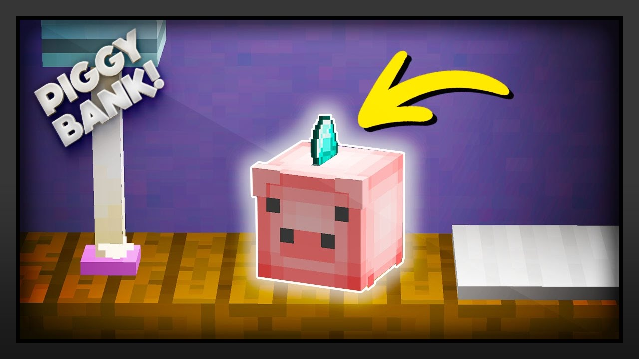 Minecraft how to make a piggy bank youtube for How to make a coin bank