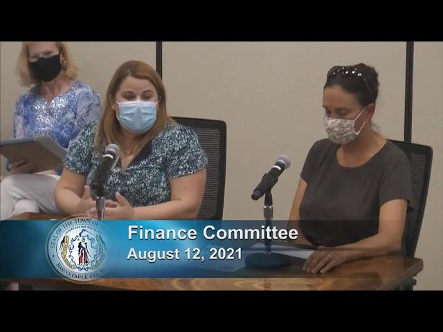 Finance Committee 8-12-21