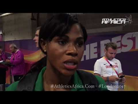 Up close with Blessing Okagbare-Ighoteguonor (NGR) at London 2017 - IAAF World Championships