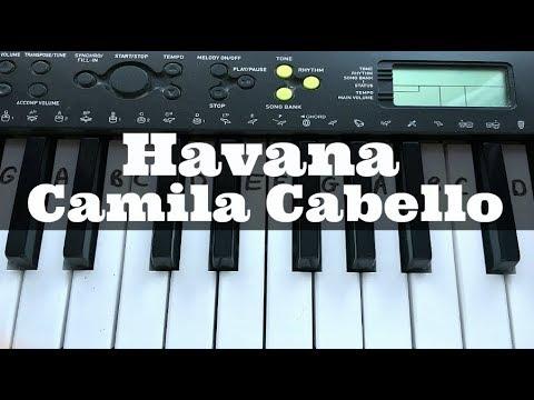 Havana - Camila Cabello   Easy Keyboard Tutorial With Notes (Right Hand)