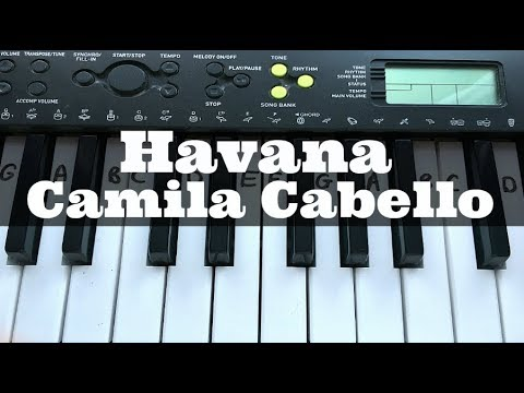 Havana – Camila Cabello | Easy Keyboard Tutorial With Notes (Right Hand)